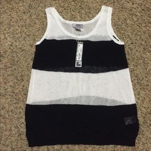 Navy & White Tank Top, lightweight, NEW with Tags
